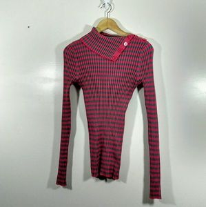 Mossimo Supply Co. Pink & Gray Turtleneck Sweater